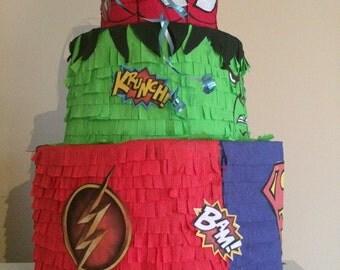 heroes cake pinata