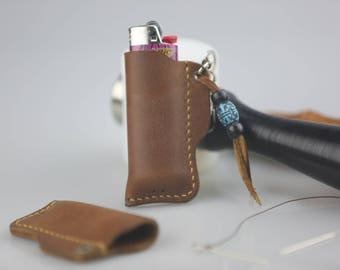Leather Lighter Case, Leather Lighter Holder, Leather Lighter Pouch