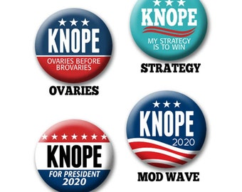 """Leslie Knope Button for Your Halloween Costume - 2.25"""" Circle - Funny Parody for President -- 2020 Election political humor"""