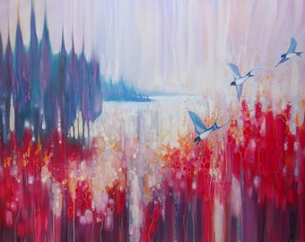 LARGE ORIGINAL Oil Painting - A Summer Place