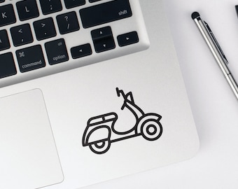 Scooter Decal, Italian Scooter Decals, iPhone Decals, MacBook Decals, Wall Decals, Car Decals, Cup Decals