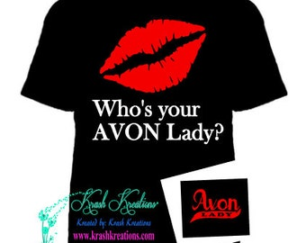 Who's your AVON lady IRON on, includes pocket design