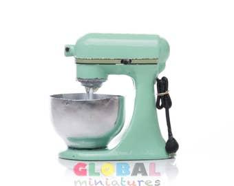 Dollhouse Miniature Pastel Green Kitchen Aid Mixer