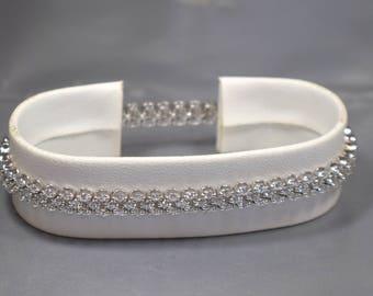 14K White Gold Diamond ( 4 Carat) Bracelet