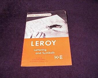 1945 Leroy Lettering and Symbols Catalog, Keuffel and Esser Company, K+E, Drafting, Engineering, Set