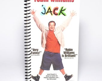 Robin Williams Jack Movie Box Upcycled VHS Notebook