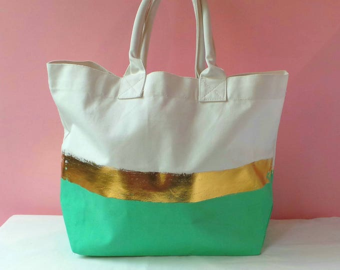 Featured listing image: Beach bag mint  - Padded handles