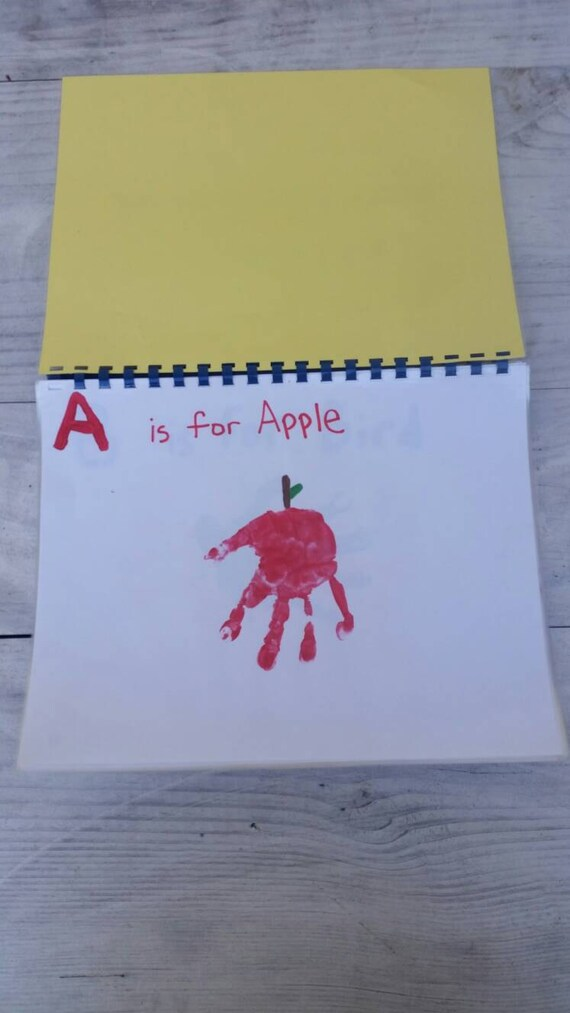 Your Own Child's Handprint Handmade ABC Book!!