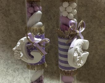 Vials with plaster scented home