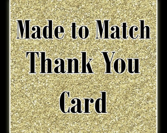 Matching Printable Thank You Card