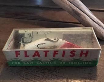 Antique Vintage Flatfish Lure Helin Tackle Co. X5 LS