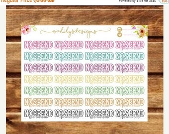 50% OFF 28 NO SPEND stickers for Any kind of planner.