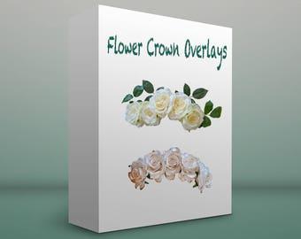Flower Crown photo overlays {12}