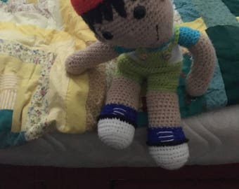 Crochet boy doll