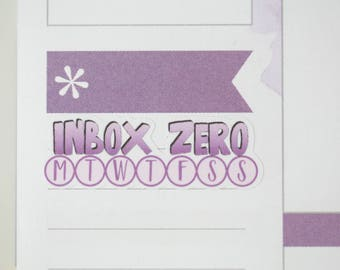 36 Inbox Zero Daily Habit Stickers  | Planner Stickers designed for use with the Erin Condren Life Planner | 0698