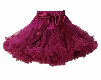 Plum Pettiskirt, Little Girl, Toddler, Big Girl - Sizes XS, S and M