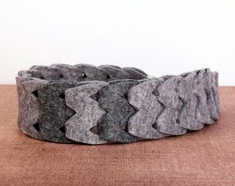 Verwisselbare schouderband • Vilt • Voor handtas • (handgemaakt)