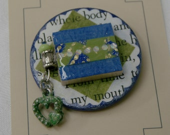 Changeable Badge Cover - Blue/Green Haze