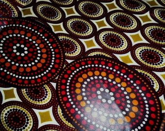 African Java  Print Fabric, by the Half Yard
