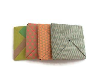 Square envelopes - Kraft paper envelopes - origami envelopes - favor envelopes - gift card holder