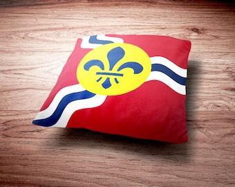 Bandera de St. Louis Throw Pillow - Almohada de la bandera de St. Louis Missouri