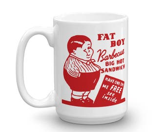 Fat Boy Barbecue San Francisco California Vintage Matchbook  Mug