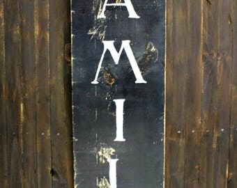 Rustic Wood Family Sign