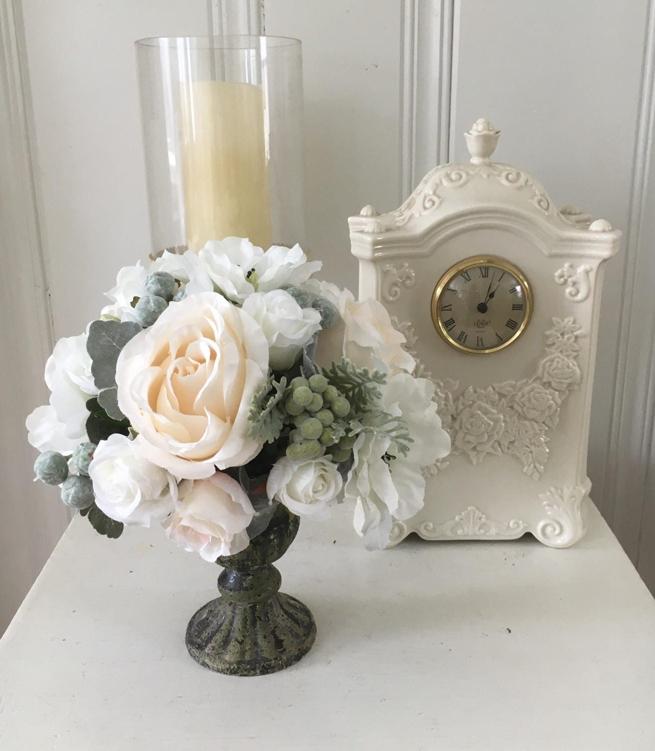 Shabby Chic Decor: Floral Home Decor Shabby Chic Flowers Cottage Chic Decor