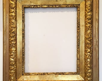 large gold wood frame vintage picture frame ornate gilded gold frame museum quality frame