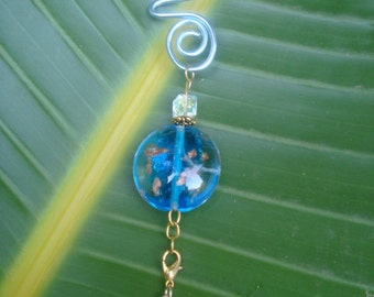 Crab suncatcher says, don't be crabby, keep the sparle of summer with a suncatcher! Has removable blue crab charm. 7in x 1in. Great gift.