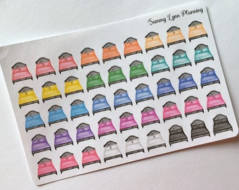 Change Sheets/Wash Sheets/Clean Sheets Planner Stickers - Rainbow