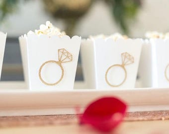 Popcorn Boxes  - Wedding Decor - Party Favors - Bridal Shower - Custom Popcorn Boxes - Baby Shower