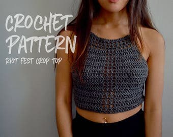 Crochet Pattern | Crochet Crop Top | Festival Outfit | Lace Up Top