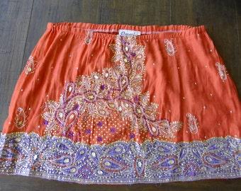 Embellished Vintage Skirt Size L