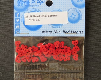 2117F Micro Mini Red Heart Dress It Up