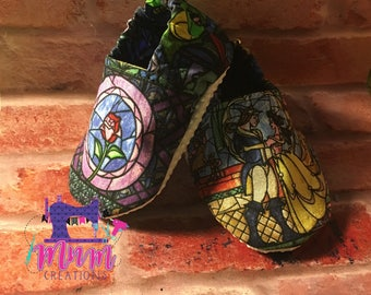 B&B stained glass baby shoes 0-6 months