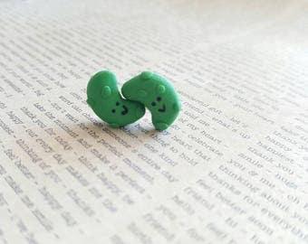 Pickle Stud Earrings, miniature food earrings, miniature foods, pickle earrings, kawaii pickles, pickles