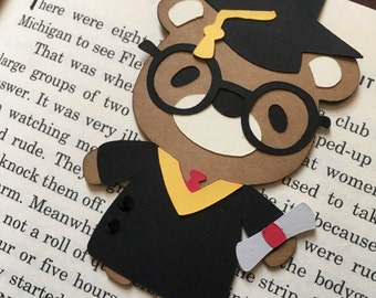 Magnetic Bookmark, Graduate Bear, Page Marker, Page Holder, Planner
