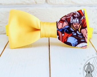 Thor Bow Tie, Superheroes bowtie, Comics pattern, Men's bow tie, Women's bow tie, Children's bow tie
