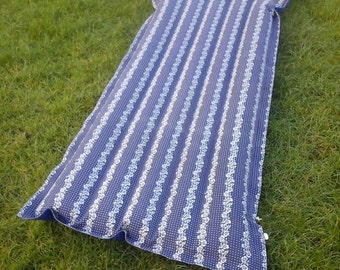 70s vintage Czech Barum cloth air mattress camp bed li-lo retro camping inflatable lilo airbed