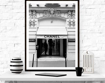 Chanel Paris Store,  Fashion Print, Art Print - Chanel Store Chanel,  Shop Chanel Paris, Coco Chanel, Home Decor