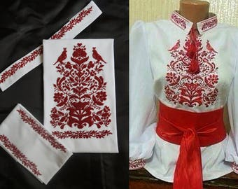 Ukrainian embroidery, embroidery, ukrainian blouse, Ukraine, embroidered blouse, bead embroidery, beads, blouse with ornament, Ukraine