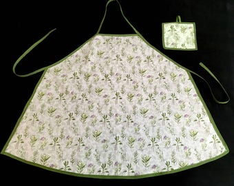 Herb Apron and Pot Holder