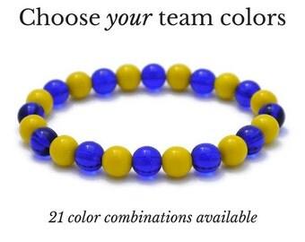 Hockey Bracelet - Custom Team Bracelet - Hockey Mom Team Bracelet - Game Day Gifts - Spirit Wear - Game Day Jewelry - Sports Team Jewelry