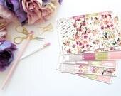 Bloom Vertical Weekly Kit-- Matte Planner Stickers