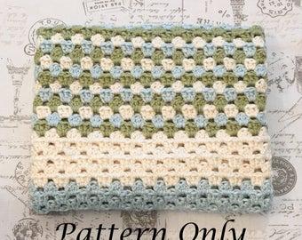 Buttercup Granny Stripe Baby Blanket PATTERN