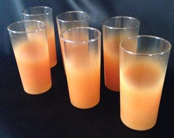 Orange BLENDO Tumbler set of 6,Orange Glassware,BLENDO glass,Set of 6 Blendo Glass Tumblers