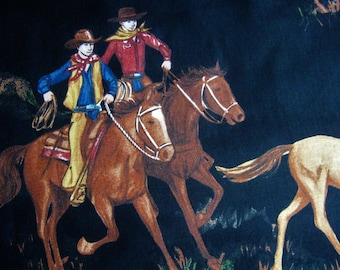 King of the Ranch Fabric by Sara Khammash for Moda*Pattern 11212*Western Print*Novelty Fabric*Cowboys and Horses*100% Cotton*Quilting*Sewing