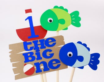 The Big One Centerpiece | The Big One Party Decorations | The Big One Centerpiece Set | The Big One First Birthday | Bobber Centerpiece