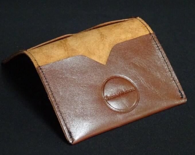 Bantam Wallet - Cherry Brown - Kangaroo leather with RFID Credit Card Blocking - James Watson